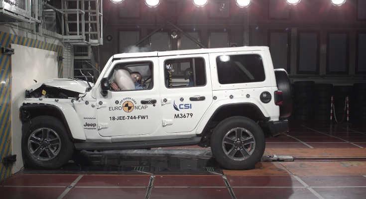 Jeep Wrangler 2018 im Euro NCAP Crashtest
